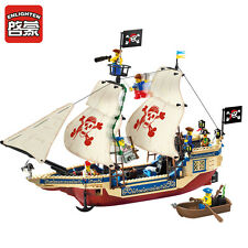 ENLIGHTEN Pirates of the Caribbean Sea Overlord Boat DIY Blocks Minifigures Toys