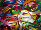 10 metres (20 x 1/2m) Assorted Colours of 10mm wide Satin Ribbon Off Cuts Bundle