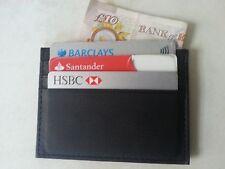 Slim nero vera pelle carta di credito oyster supporto sottile portafoglio