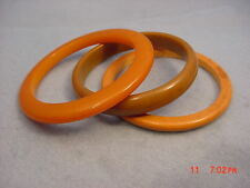Vintage Bakelite Lot three Bangles