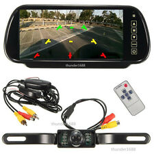 "Wireless Car SUV Rear View Kit 7"" LCD Mirror Monitor + IR Reversing Camera 170°"
