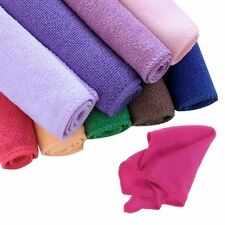 10x Microfibre Cleaning Cloth Towel Car Valeting Polishing Duster Kitchen Useful