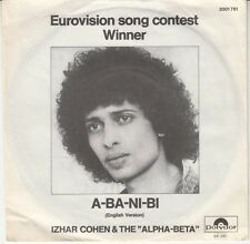 45T  SP IZHAR COHEN & THE ALPHA-BETA *A-BA-NI-BI* (EUROVISION / MADE IN GERMANY)