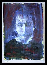 Armin Müller Stahl Heinrich Heine handsignierte Grafik mit Alu Rahmen 70x50cm