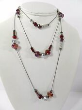 m. Haskell Hematite-Tone   Crystal  Long Necklace, 60""