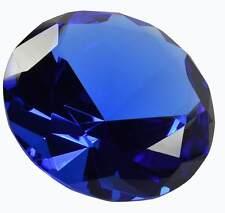 """4"""" Glass Diamond Shaped Paperweight Blue"""