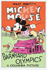 Barnyard Olympics 1932 Mickey Mouse Disney cartoon poster print