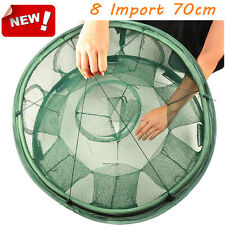 8 Import 70cm Portable Foldable Fishing Trap Cast Net Crab Eel Lobster Minnow