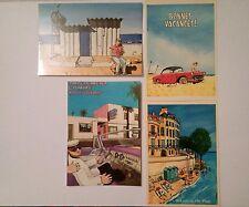 Loustal 4 cartes postales Metal Hurlant et Grandes vacances collection