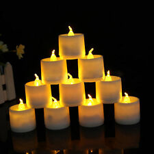 12 Flickering Light Flameless Battery LED Tealight Tea Candles Wedding New
