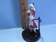 "#518 Unknown Anime 4""in Girl Figure with Head Wrap Purplish Dress"