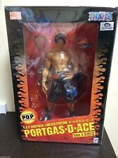 Megahouse Portrait Of Pirates One Piece LIMITED Portgas D Ace Ver.1.5 1:8 Figure