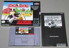 Monopoly for Super Nintendo SNES Complete Fast Shipping!