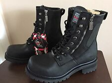 Milwaukee Motorcycle Clothing - Men's  Trooper Boots size 9.5 D  9 1/2 D NIB NWT