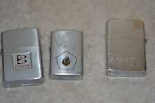 .Lot of  3 cigarette lighters, Idealline, Crown, and Ronson Wind II