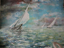 Grand pétrolier russe peinture océan et bateaux