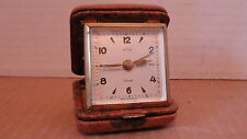 VINTAGE 7 JEWEL  HEIGRU TRAVEL ALARM CLOCK - NON WORKING