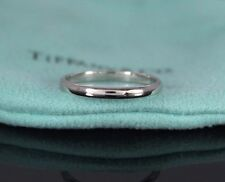 $1,325 Tiffany Platinum 2mm Stackable Anniversary Ring Wedding Band Size 5.5