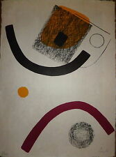Lardera Berto Lithographie Originale Signée Quebec Art Abstrait Abstraction