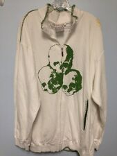 Pepe Jeans Size 4 Xl Skull Zip Up Jacket White. Green
