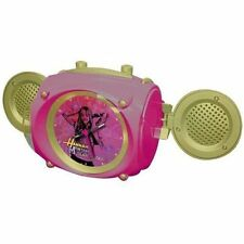 HANNAH MONTANA GILRS BOOM BOX MP3 SPEAKER & ALARM CLOCK WITH LIGHT