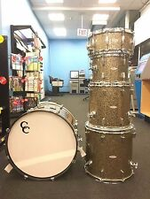 C&C Gladstone Drum Set  ~ Rare 6 piece ~ Ginger Glitter