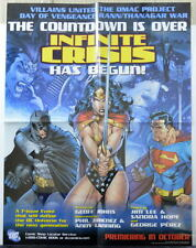 INFINITE CRISIS RETAILER PROMO POSTER Superman Batman Wonder Woman