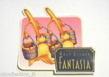 """ADESIVO anni '80 / Old Sticker FILM DISNEY 1940 """"FANTASIA"""" (cm 11x11) SCOPE"""