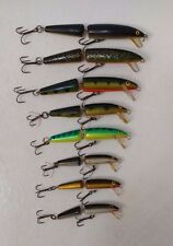 (8) RAPALA JOINTED FLOATING JERK BAIT FISHING LURES LOT OF 8
