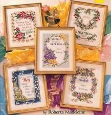 American School of Needlework A YEAR OF FLOWERS 12 Cross Stitch Charts/Booklet