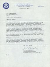 Counselor to the Judge Advocate General JOHN A. McINTIRE Signed Letters