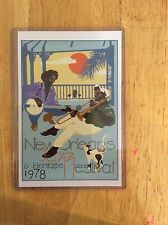1978 New Orleans Jazz Fest Poster Postcard 4th Charest &...