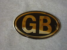 NEW JAGUAR XK TRIUMPH TR  LOTUS ELAN OVAL GB BADGE CHROME ON BLACK