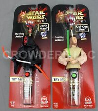 Star Wars Episode 1 Spin Pop Candy Qui Gon Jinn & Darth Maul Dueling Action '99