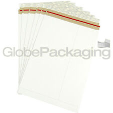 25 x Strong C4 / A4 Size ALL BOARD White Postal Mailing Envelopes 324x229mm