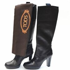 TOD'S New size 40 - 9 Authentic Womens Heels Shoes Boots Made in Italy Brown