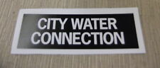 """RV Safety Decal """"City Water Connection"""" TL5002 UPC:710534474030"""