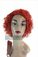 Sepia West Bay Synthetic Full Short Curly Style Henna Red Mimi Wig