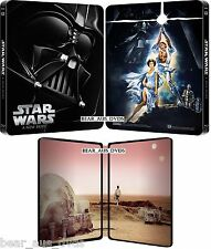 STAR WARS 4 (1977) - IV - A New Hope (Original)  Limited Steelbook - NEW BLU-RAY