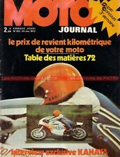 MOTO JOURNAL  102 BMW R60 /5 R 60 ; KAWASAKI ZERCHOT HONDA CB 750 Four 125 1973