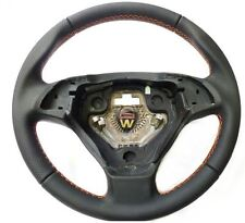 Fiat Grande Punto Sport Black Leather Steering Wheel Orange Stitching Genuine