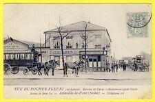 """cpa 94 - JOINVILLE le PONT Vue du RESTAURANT """"Au ROCHER FLEURI"""" 52 route de BRIE"""