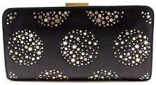 Fossil Black Women Clutch Wallet SL4392 Gold Star