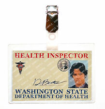 Supernatural Sam Winchester Health Inspector ID Badge Cosplay Costume Halloween