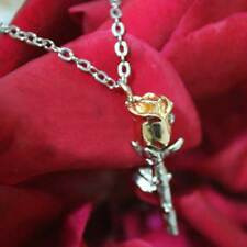 UNIQUE ROSE GOLD NECKLACE PENDENT ROMANTIC LOVE GIRL WIFE VALENTINE GIFT FOR HER