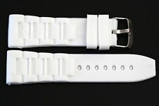 28MM WHITE RUBBER SILICONE COMPOSITE SPORT WATCH BAND STRAP FITS LUMINOX