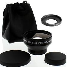 HD 25mm Wide Angle Lens with Macro for Sony Handycam DCR-DVD105,DVD201, Japanese