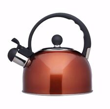 Living Nostalgia French Copper Traditional 1.4 Litre Whistling Kettle KCLXKETCOP