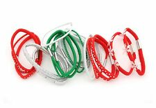 Zest Christmas 20 Snowflake Hair Bands Hair Elastics Red Green Silver & White