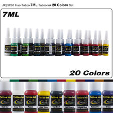 Hao Tattoo 20 Colors Body Tattoo Pigment Complete Set 7ml/bottle Tattoo Ink Kit